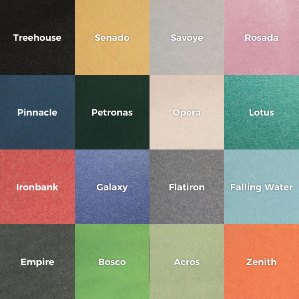 CUBE Standard Colour Swatch