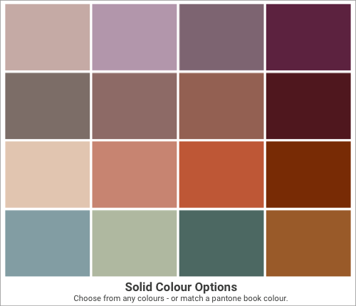 Solid Colour Options